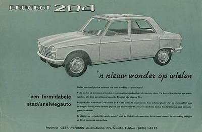 1964 ? Peugeot 204 Brochure Dutch wp6444-GCWU2V