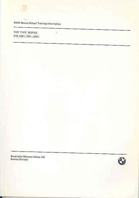 1983 BMW 518 520i 525i 528i Salesman's Brochure wp6863-VST75W