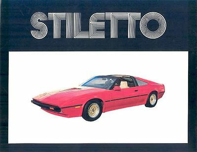 1985 Stiletto Ferrari 328GTS Corvette Replica Brochure wp708-G3OVY8
