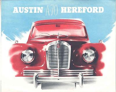 1951 Austin A70 Hereford Brochure French wp7249-Q71HEX