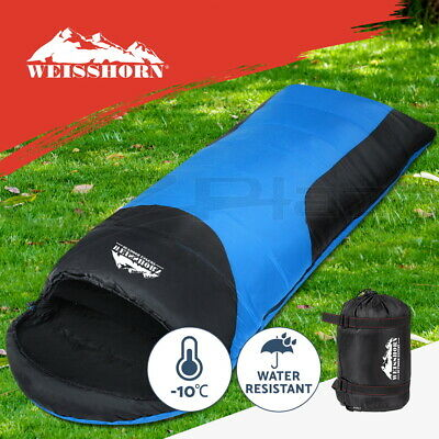 WEISSHORN Camping Sleeping Bag -10°C Hiking Thermal Carry Bag Tent Black