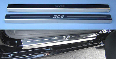 Peugeot 308 5 Door Stainless Steel Kick Plate Car Door Sill Protectors Set -K15x