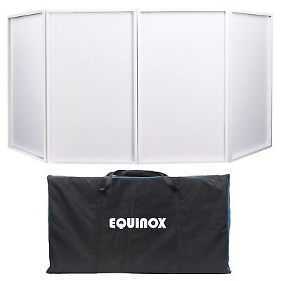 Equinox Foldable Mk2 White Wedding DJ Screen Scrim Light Screens Inc Carry Bag