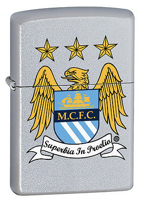 Zippo Lighter Official Manchester City Football Club Personalised Engraved Free