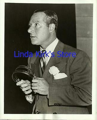 "George Jessel Promotional Photograph ""Holiday Star Revue"" Holding Headphones"