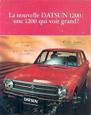 1970 Datsun 1200 Brochure French wo1883-4ZNO94