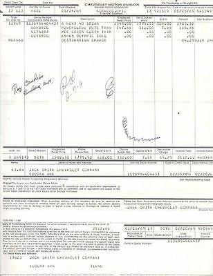 1969 Chevrolet Nova 6 Sedan Factory To Dealer Invoice wo3072-HMJDYG