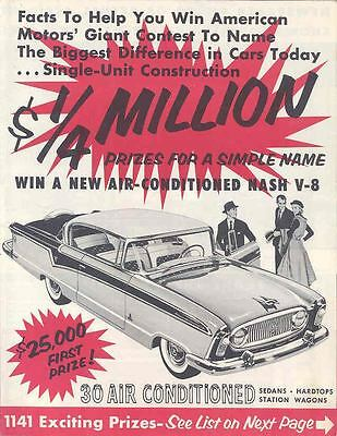 1956 Nash Prize Contest Mailer Brochure wo6157-XBE4B8