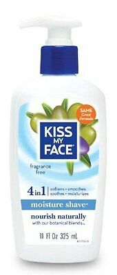 Skin Cream Care Pack Of 4 Kiss My Face Fragrance Free Moisture Shave 11Oz Pumps