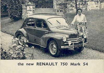 1954 Renault 750 Mark 54 Brochure wq2178-8GMKET