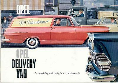 1961 Opel Olympia Express Delivery Van Brochure wq3281-YP438T