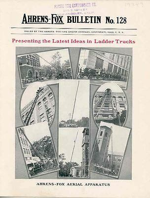 1924 Ahrens Fox Ladder Fire Truck Brochure Braintree MA wq3588-FXGC4M