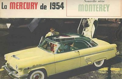 1954 Mercury Monterey Brochure Sun Valley Canada French wq4376-M5LQSO