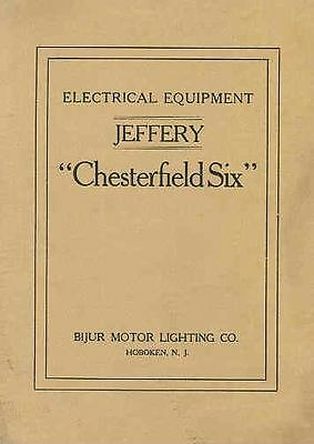 1915 1916 Jeffery Chesterfield 6 Bijur Manual Rambler wq5456-JPFSJV