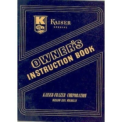 1947 Kaiser Special Owner's Manual NOS wq5461-XK98MX
