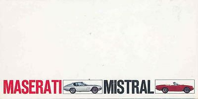 1967 Maserati Mistral Coupe & Spyder Brochure wq7715-ZUHQAH