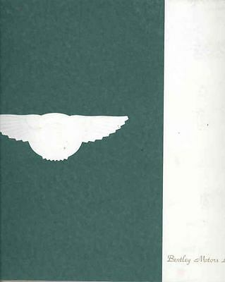 1993 Bentley Prestige Brochure wq7943-KVRNZ5