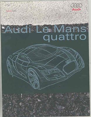 2003 Audi LeMans & Nuvolari Quattro Concept Press Brochure CD-ROM R8 ws0371-SZIZ