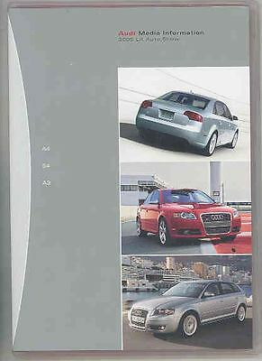 2005 Audi A4 S4 A3 Press Kit CD-ROM Brochure ws0394-7HNDEF