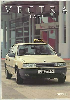 1990 Opel Vectra Taxi Cab Brochure German ws1307-ML2JJY