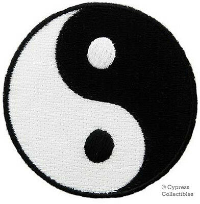YIN YANG embroidered iron-on PATCH karate ying tai chi MARTIAL ARTS applique NEW