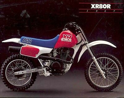 1987 Honda XR80R Brochure we3918-6CRJG1