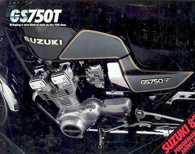 1982 Suzuki GS750T Brochure we4496-54AQAI
