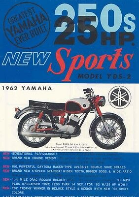 1962 Yamaha 250 YDS2 50 Lightning 125 YA5 Brochure we4890-8GVUHT