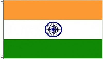 INDIA FLAG - NEW 5 x 3 FT - LARGE INDIAN COMMONWEALTH GAMES