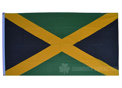 JAMAICA JAMAICAN NATIONAL FLAG LARGE 5 x 3FT FANS SUPPORTERS CARIBBEAN COUNTRY