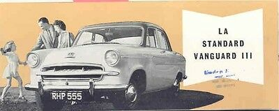1957 Standard Vanguard III Brochure French wb3433-BPPAVT
