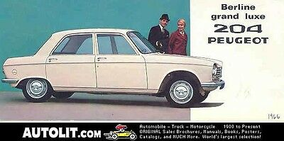 1966 Peugeot 204 Sales Brochure French wb4105-DN8ICT