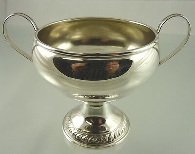 GADROON BORDER PLAIN PEDESTAL SUGAR BOWL WEIGHTED STERLING BY unknown USA