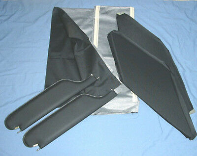 1966-67 gto new sun visors & headliner black perforated