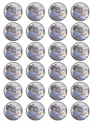 X24 Medical Doctor Surgeon Birthday Cup Cake Toppers On Edible Rice Paper