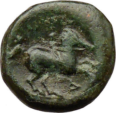 Philip II Alexander the Great Dad OLYMPIC GAMES Ancient Greek Coin Horse i29771