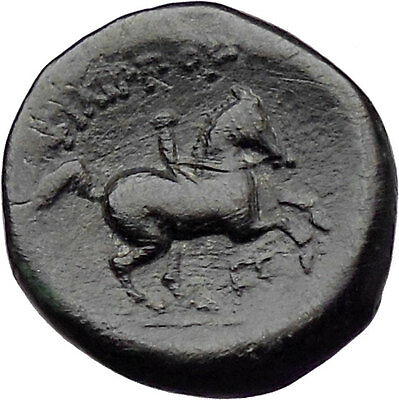 Philip II Alexander the Great Dad OLYMPIC GAMES Ancient Greek Coin Horse i30112
