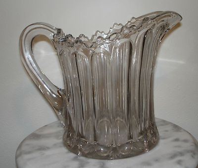Fostoria Early Pattern Glass Lucere Ice Pitcher