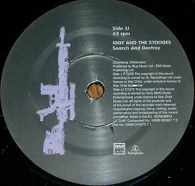 "*<* RARE UK-only MINT GEM! IGGY & THE STOOGES ""SEARCH & DESTROY"" +PEACHES cover!"