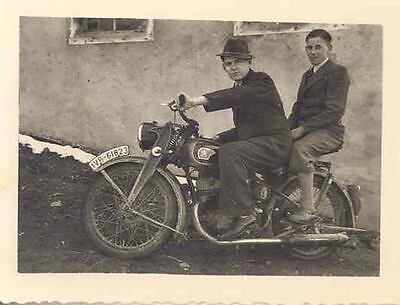 1935 ? Peugeot Motorcycle ORIGINAL Photo wn0011-28IHWP