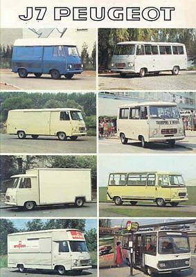 1979 Peugeot J7 Van Brochure Ambulance Fire Truck Bus  wn3080-4FYVG9