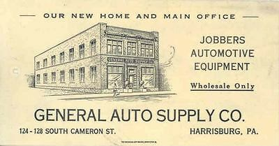 1920 ? Auto Supply Celluloid Postcard Harrisburg  wn5938-ZH71FS