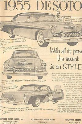 1955 DeSoto Hartford Dealer Newspaper Ad  wn5971-TN43YQ