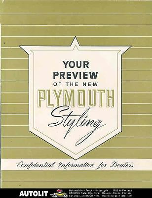 1950 Plymouth Salesman's Brochure Poster Canada wn6169-6M935S