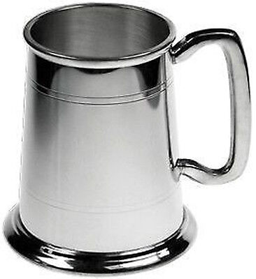 Personalised Engraved 1 Pint British Made Pewter Tankard In Silk Lined Gift Box