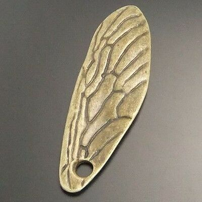20X Antique Style Bronze Tone Alloy Wing Pendants Charms 40*14mm