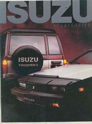 1985 Isuzu Trooper II Impulse P'UP Pickup Truck Accessories Brochure ws3638-LAWO