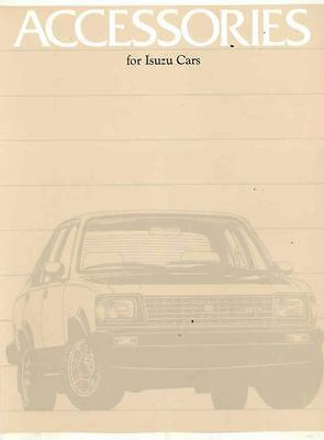 1982 Isuzu I-Mark Sedan Accessories Brochure ws3642-5JYYRT
