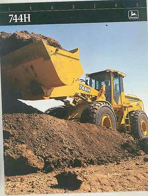 1997 John Deere 744H Loader Construction Brochure ws4253-O6O3DI