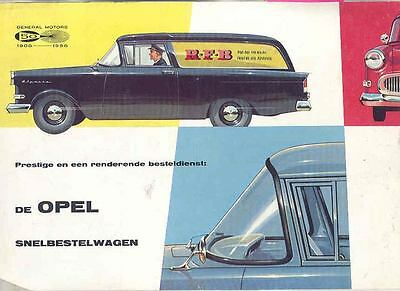 1958 Opel Olympia Sedan Delivery Sales Brochure Dutch  wl1451-6SNAB2